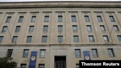 资料照片:美国司法部在华盛顿的总部大楼。