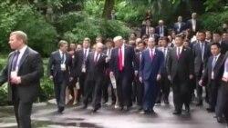 ترامپ و پوتین بر یافتن راه حل سیاسی برای بحران سوریه تاکید کردند