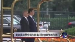 美官员罕见称赞中国在阿富汗作用