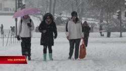 Tuyết cuối mùa ở thủ đô Mỹ