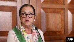 """El gobierno de Nicaragua acusó el 2 de agosto de 2021 a la canciller salvadoreña Alexandra Hill de """"inmiscuirse"""" en asuntos internos en relación con la decisión de Managua de nacionalizar al expresidente salvadoreño."""