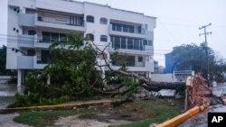 Ураган «Дельта», Канкун, Мексика 7 октября 2020