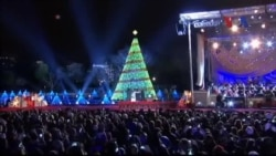 Tổng thống Obama thắp sáng cây thông Giáng Sinh quốc gia