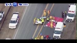 Đoàn tàu chở khách đâm vào chiếc xe ở California (VOA60)