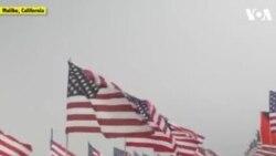 ԱՌԱՆՑ ՄԵԿՆԱԲԱՆՈՒԹՅԱՆ. Հազարավոր ամերիկյան դրոշներ Կալիֆոռնիայում