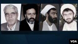 اعضای «هیات مرگ» - از راست: حسینعلی نیری، مصطفی پورمحمدی، ابراهیم رئیسی، مرتضی اشراقی