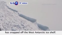 VOA60 World - A trillion-tone iceberg, one of the largest ever recorded, has snapped off the West Antarctic ice shelf