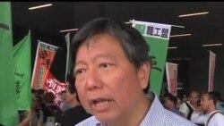 2013-04-17 美國之音視頻新聞: 香港碼頭工人示威行動升級