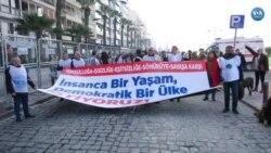 KESK İzmir'de 'İnsanca Yaşam' Mitingi Düzenledi