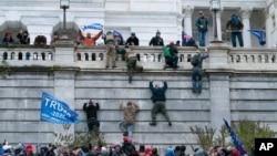 Điện Capitol ở Washington bị những người biểu tình tấn công vào ngày 6/1/2021.