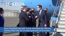 VOA60 Afrikaa - U.S. Treasury Secretary Steven Mnuchin arrived in Sudan