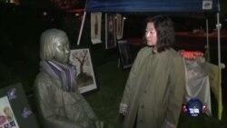 慰安妇支持者举行烛光守夜抗议韩日协议