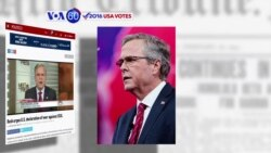 VOA60 Elections- Jeb Bush calls on Obama to heighten military presence in Europe and the Middle East