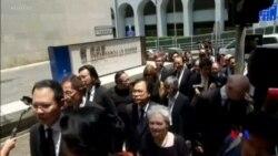 香港法律界黑衣靜默遊行 反對律政司政治檢控反送中示威者
