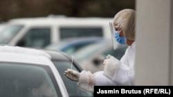 Bosnia-Herzegovina - Coronavirus testing in Sarajevo, 16Mar2021