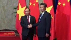 Thủ tướng Phúc hội kiến ông Tập Cận Bình ở Bắc Kinh