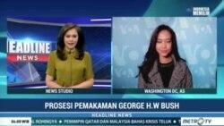 Laporan Langsung VOA untuk Metro TV: Pemakaman George H.W Bush