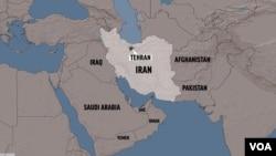 Mapa Irana