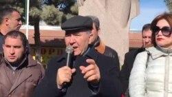 Milli Şura Sədri Cəmil Həsənli Rəsulzadə abidəsi önündə çıxışı