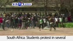 VOA60 Africa- South Africa: Students protest fee increases in several universities