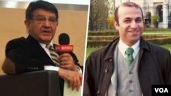 کامران قادری (راست) و مسعود مصاحب، دو ایرانی–اتریشی زندانی در ایران