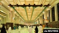 Mizgefta Mezin ya li bajarê pîroz Mekke, Erebistana Saudî, 4 Cotmeh, 2020.