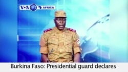 VOA60 Africa- Presidential guard of Burkina Faso declares coup- September 17, 2015