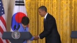 韓國總統朴槿惠在白宮會見奧巴馬