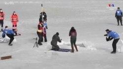 Չեխ լողորդ Դեյվիդ Վանսելը սառցապատ ջրում սուզվելու նոր ռեկորդ է սահմանել` սուզվելով 81 մետր