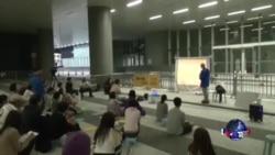 香港热心人士坚持举办街头议政论坛