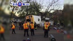VOA60 America - Five children dead in Tennessee school bus crash