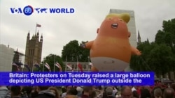 VOA60 World - The protesters in London expressed opposition to a host of Trump policies