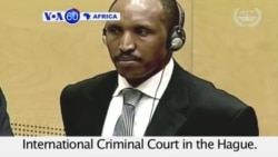 VOA60 Africa - Congo Warlord 'The Terminator' Pleads Not Guilty at ICC - September 2, 2015