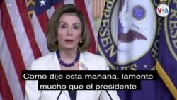 Nancy Pelosi pide proceder con juicio político