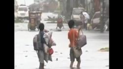 """颱風""""黑格比""""襲擊菲律賓中部"""