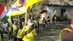 西藏流亡人士长途游行,纪念自由西藏抗暴日