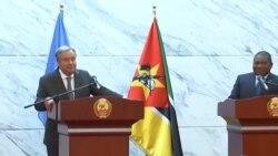 Guterres em Moçambique dá os parabéns ao país e disponibiliza ONU para combate ao extremismo