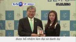 Kim Yuna làm đại sứ danh dự cho Olympic Mùa đông 2018 (VOA60)