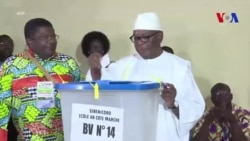 Ibrahim Boubacar Keita vote à Bamako (vidéo)