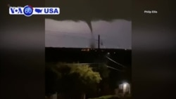VOA60 America - A series of tornadoes touched down across North Texas Sunday night, causing extensive property damage