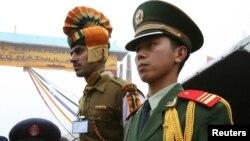 印度與中國邊境的守衛資料照。