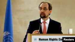 자이드 라아드 알 후세인 유엔 인권최고대표. (자료사진)
