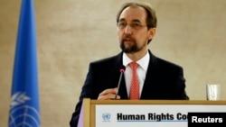 聯合國人權事務高級專員扎伊德•拉阿德•侯賽因(資料圖片)