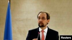 联合国人权事务高级专员扎伊德•拉阿德•侯赛因(资料照)