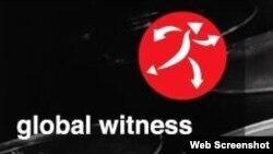 ស្លាកសញ្ញាអង្គការ Global Witness ថតពីគេហទំព័រអង្គការ Global Witness។