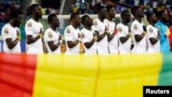 L'équipe sénégalaise lors de la rencontre contre l'Algérie à la Coupe des Nations, Malabo, Guinée, 27 janvier 2015.