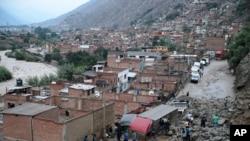 Arxiv fotosu - Peruda torpaq sürüşməsi, 2015-ci il.