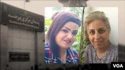 بیرجند جیل میں بھیجی جانے والی دو بہائی خواتین آرزو محمدی اور بنفشہ مختاری۔۔ 12 اکتوبر 2020