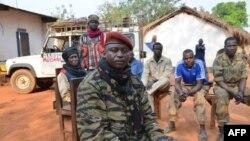 Umukuru w'urunani SELEKA rurwanya ubutegetsi Colonel Christian Djouma Narkoyo, ari mu gisagara ca Grimari, mu gihugu ca Repblika ya Centre Africa