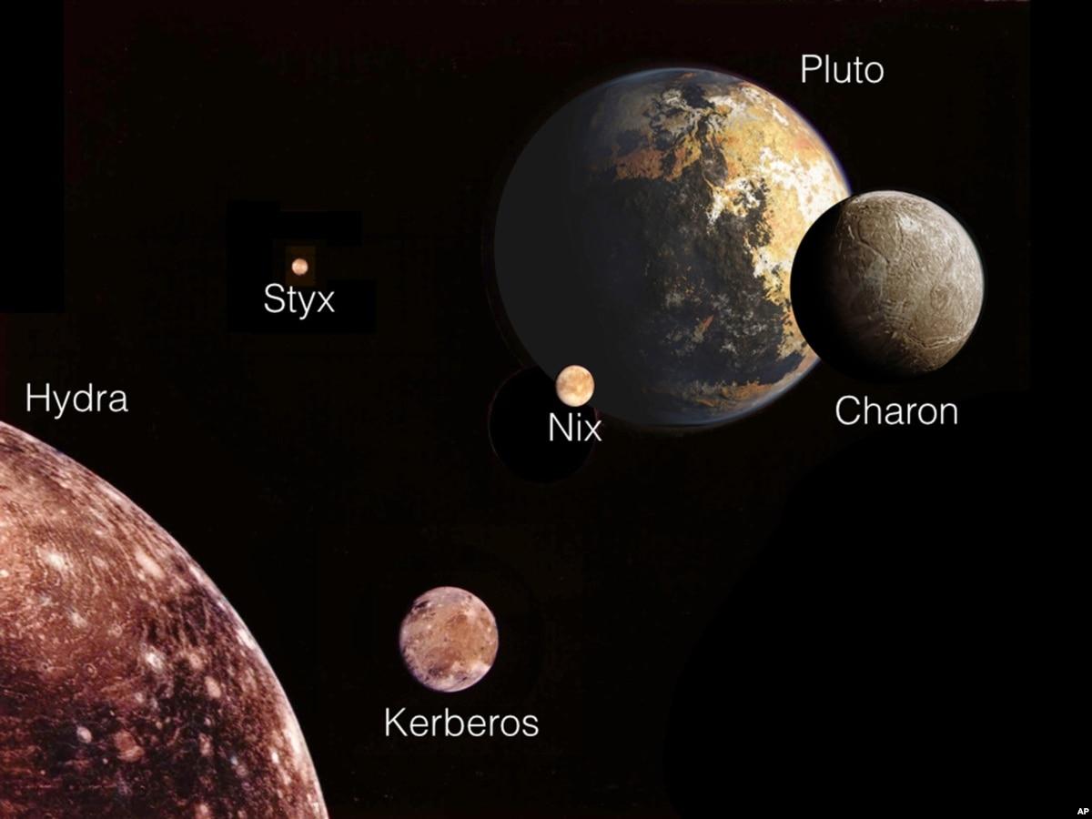 pluto's moons nix and hydra - HD1024×768